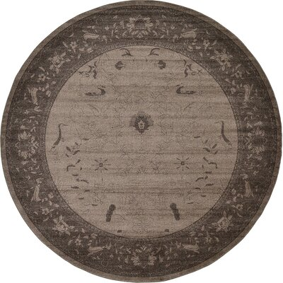 Imperial Dark Brown Area Rug Rug Size: Round 122