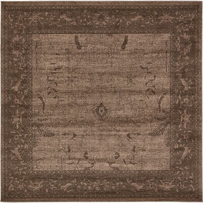 Imperial Dark Brown Area Rug Rug Size: 8 x 8