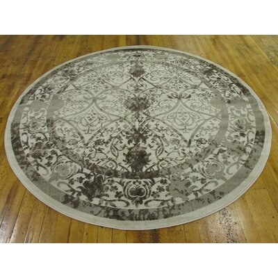Imperial Beige Area Rug Rug Size: Round 8