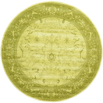 Imperial Light Green Area Rug Rug Size: Round 8'