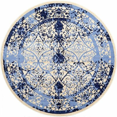 Imperial Blue Area Rug Rug Size: Round 8