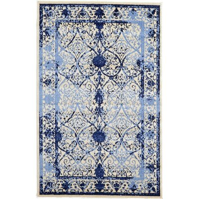 Imperial Blue Area Rug Rug Size: 5 x 8