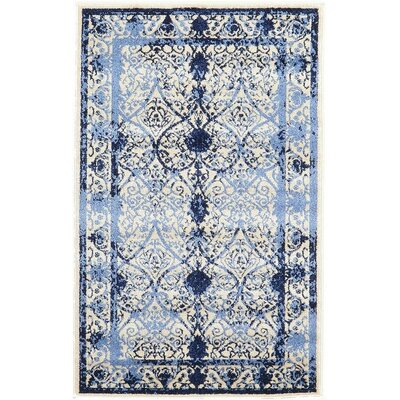 Imperial Blue Area Rug Rug Size: 33 x 53