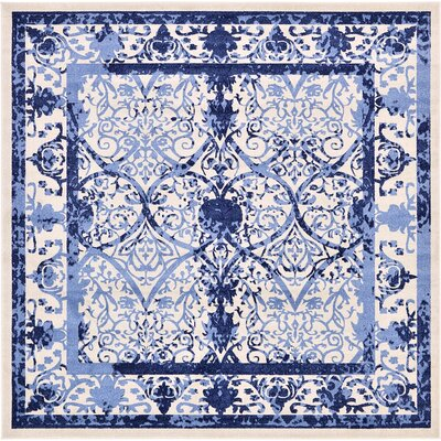 Imperial Blue Area Rug Rug Size: Square 10