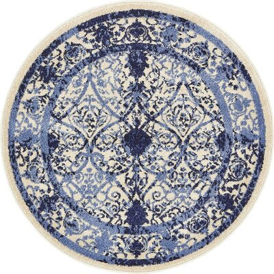 Imperial Blue Area Rug Rug Size: Round 3