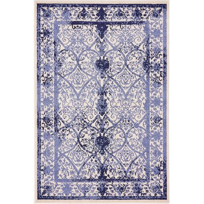Imperial Blue Area Rug Rug Size: 4 x 6