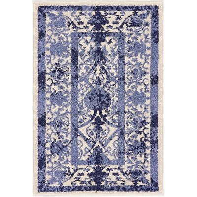 Imperial Blue Area Rug Rug Size: 2 x 3