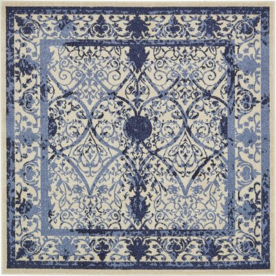 Imperial Blue Area Rug Rug Size: Square 6