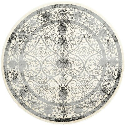 Imperial Ivory Area Rug Rug Size: Round 8