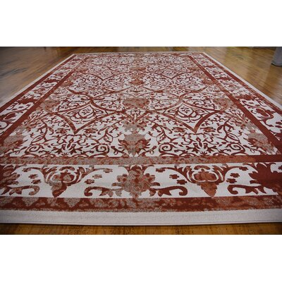 Castlewood Terracotta Area Rug Rug Size: Rectangle 122 x 16