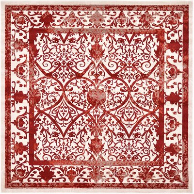 Castlewood Terracotta Area Rug Rug Size: Square 10