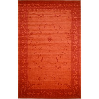 Imperial Rust Red Area Rug Rug Size: 3'3