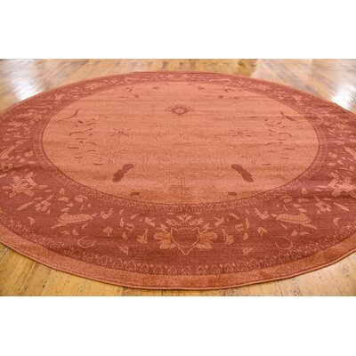Imperial Rust Red Area Rug Rug Size: Round 8