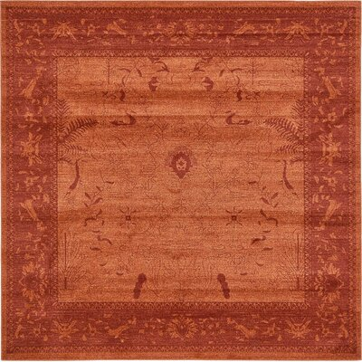 Imperial Rust Red Area Rug Rug Size: Square 8