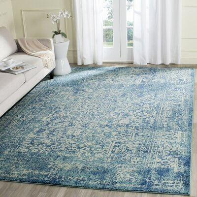 Elson Blue/Ivory Area Rug Rug Size: Rectangle 11 x 15