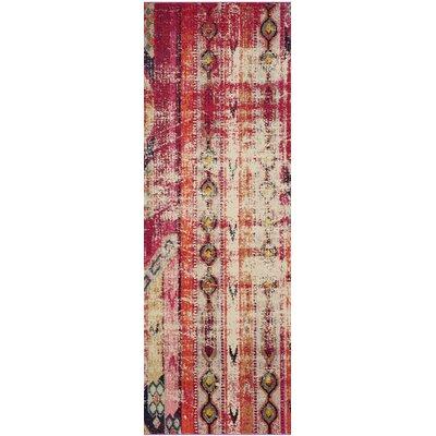 Elston Tibetan Pink Area Rug Rug Size: Runner 22 x 12