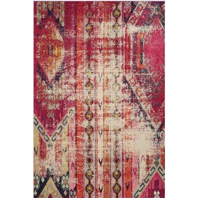 Elston Tibetan Pink Area Rug Rug Size: 51 x 77