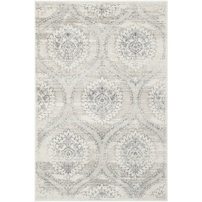 Lujan Gray/Black Area Rug Rug Size: Rectangle 4 x 6