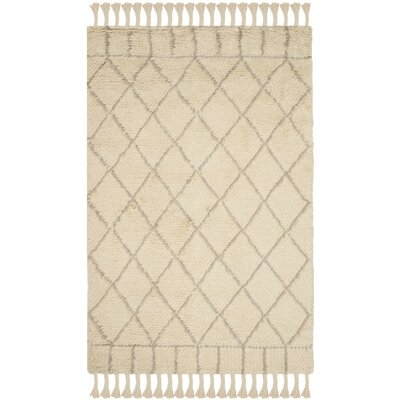 Luera Hand-Tufted Beige Area Rug Rug Size: 9 x 12
