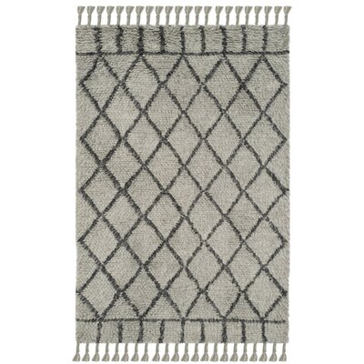 Livingston Hand-Tufted Gray Area Rug Rug Size: Rectangle 4 x 6