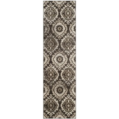 Luoma Brown Area Rug Rug Size: Runner 23 x 8