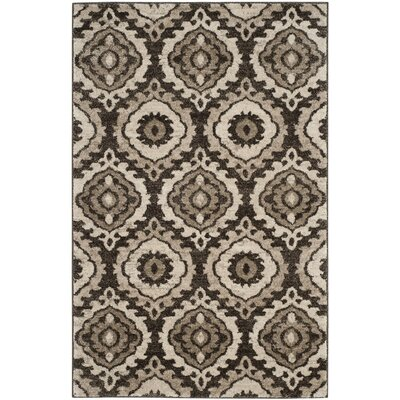 Luoma Brown Area Rug Rug Size: Rectangle 4 x 6