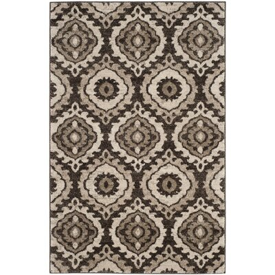Luoma Brown Area Rug Rug Size: 4 x 6