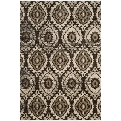Luoma Brown Area Rug Rug Size: 51 x 76