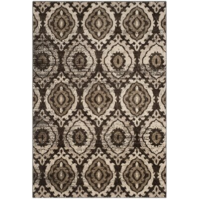 Luoma Brown Area Rug Rug Size: 67 x 92