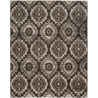 Luoma Brown Area Rug Rug Size: 9 x 12