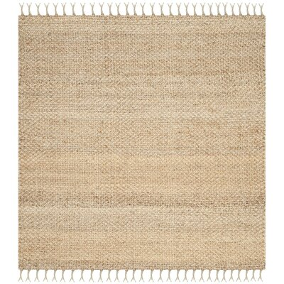 Liza Hand-Woven Natural Area Rug Rug Size: Square 9
