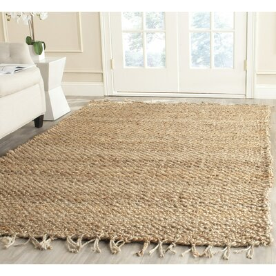 Liza Hand-Woven Natural Area Rug Rug Size: Rectangle 4 x 6