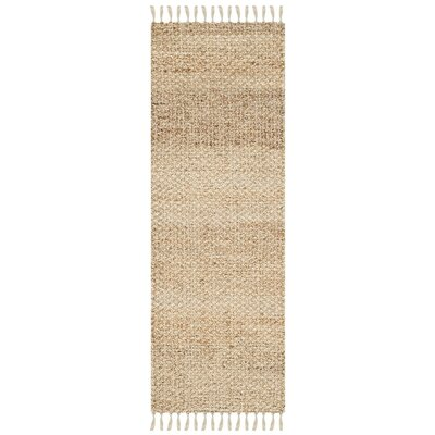 Macha Hand-Woven Natural Area Rug Rug Size: Runner 23 x 17