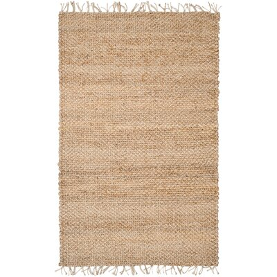 Liza Hand-Woven Natural Area Rug Rug Size: 5 x 8
