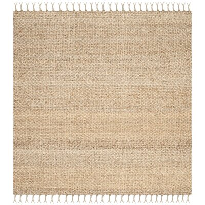 Liza Hand-Woven Natural Area Rug Rug Size: Square 5