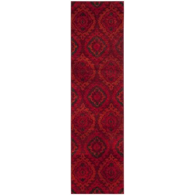 Luoma Red Area Rug Rug Size: Runner 23 x 8