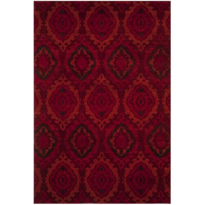 Luoma Red Area Rug Rug Size: 51 x 76