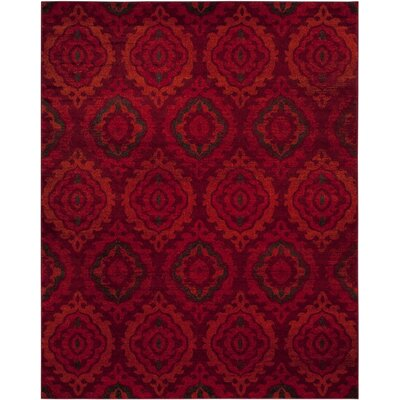 Luoma Red Area Rug Rug Size: 8 x 10