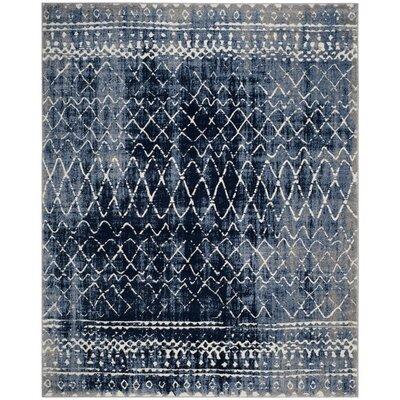 Loganne Blue Area Rug Rug Size: Rectangle 8 x 10