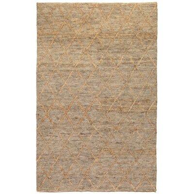 Gerardo Hand-Woven Natural Area Rug Rug Size: 5 x 8