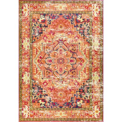 Mackenzie Orange Area Rug Rug Size: 3 x 5