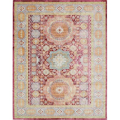Bradford Red Area Rug Rug Size: Rectangle 5 x 8