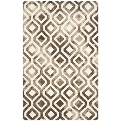 Euphemia Ivory/Chocolate Area Rug Rug Size: Rectangle 5 x 8