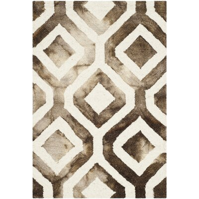 Euphemia Ivory/Chocolate Area Rug Rug Size: Rectangle 4 x 6