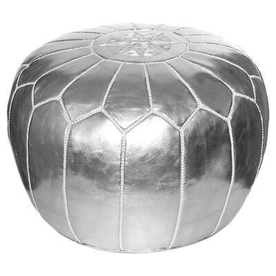 Carolos Metallic Pouf Ottoman Upholstery: Silver