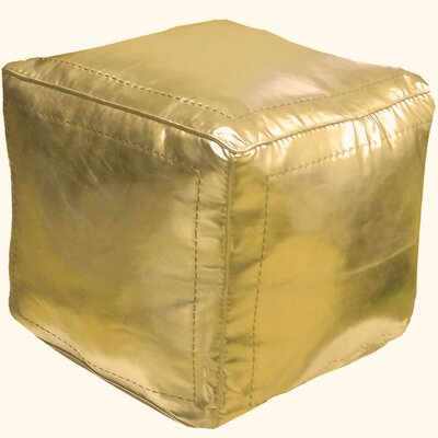 Mouassine Pouf Upholstery: Gold