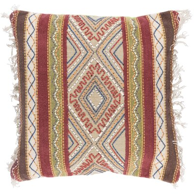Fressia Square 100% Cotton Throw Pillow Cover Size: 20 H x 20 W x 1 D