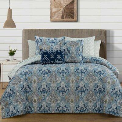 Douse 9 Piece Comforter Set Size: King, Color: Teal
