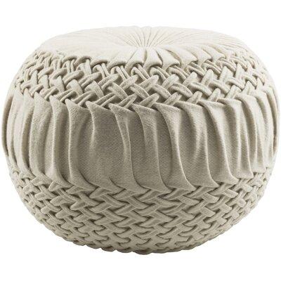 Deshmukh Pouf Upholstery: Cream