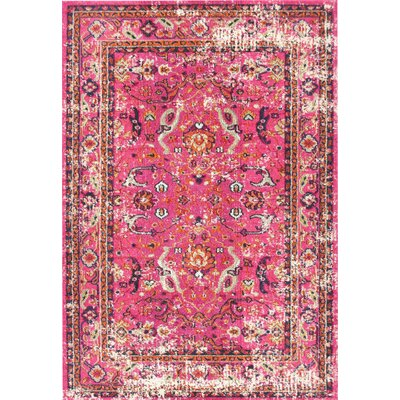 Cher Pink Area Rug Rug Size: Rectangle 53 x 77